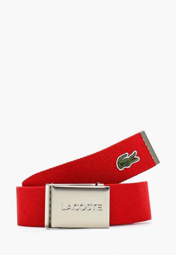 Купить Ремень Lacoste красного цвета