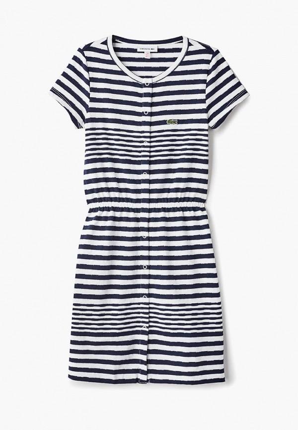 повседневные платье lacoste для девочки, синее