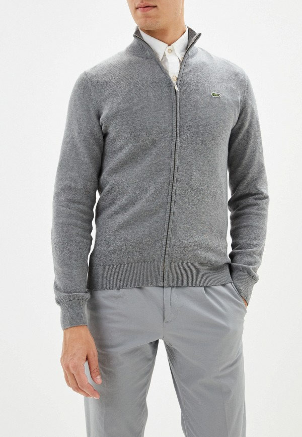 мужской кардиган lacoste, серый
