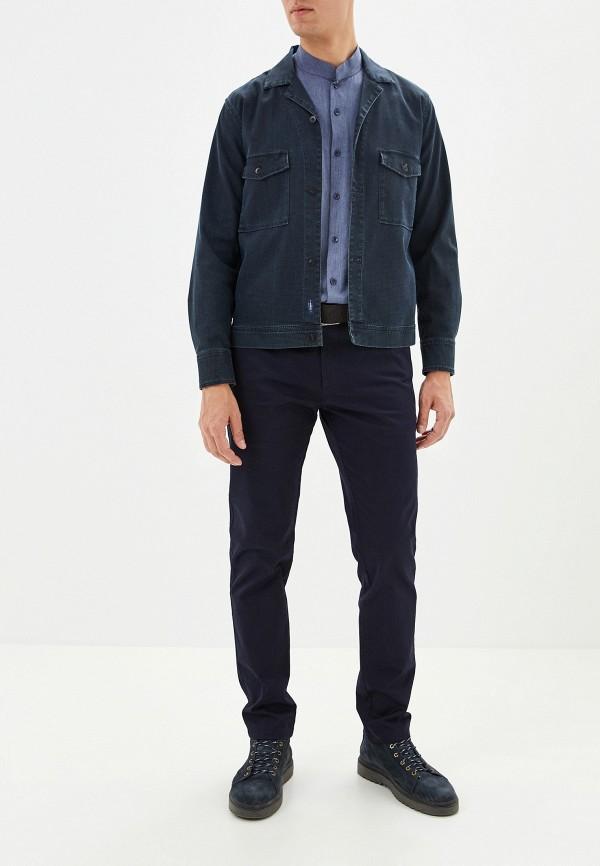 Фото 2 - мужские брюки Lacoste синего цвета