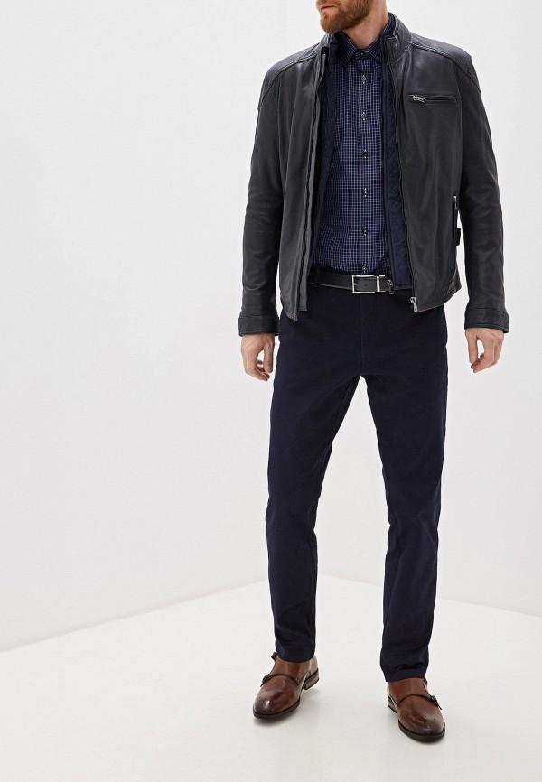 Фото 5 - мужские брюки Lacoste синего цвета