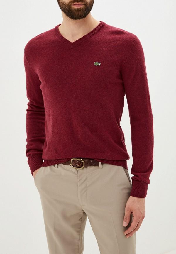 мужской пуловер lacoste, бордовый