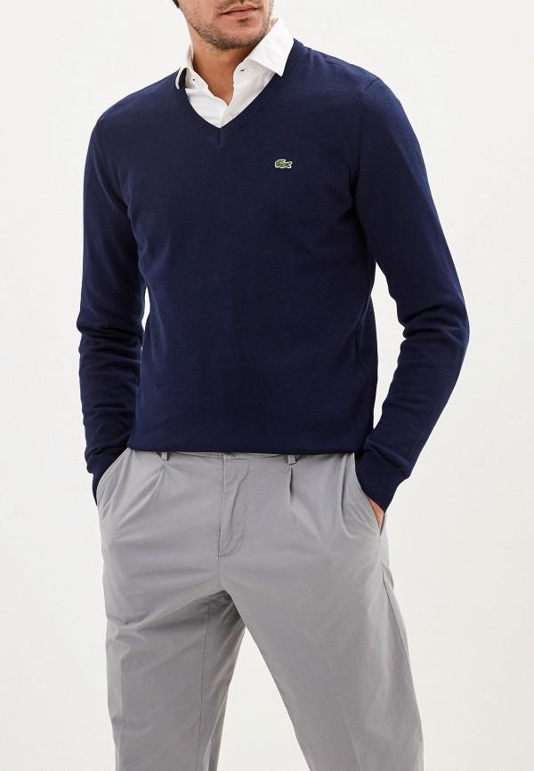 мужской пуловер lacoste, синий