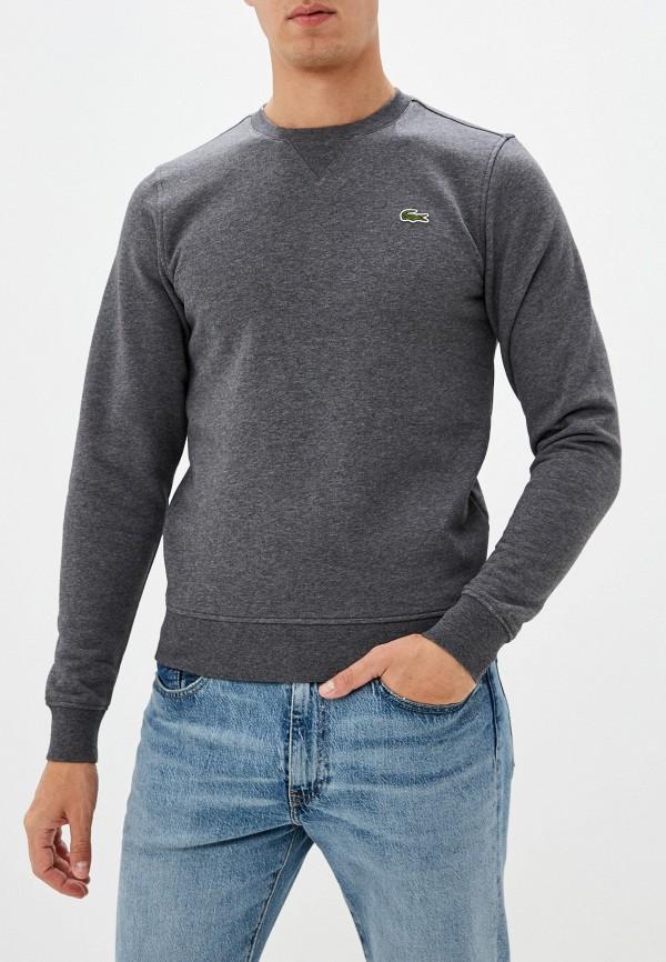 мужской свитшот lacoste, серый