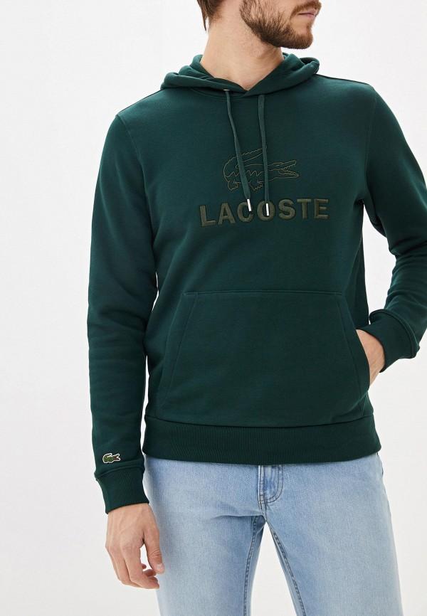 мужские худи lacoste, зеленые