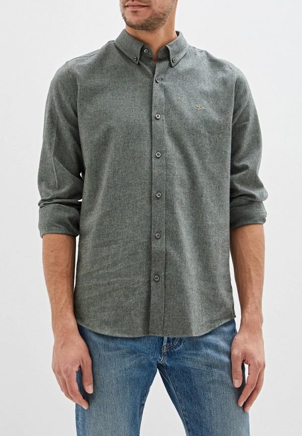 мужская рубашка с длинным рукавом lacoste, зеленая