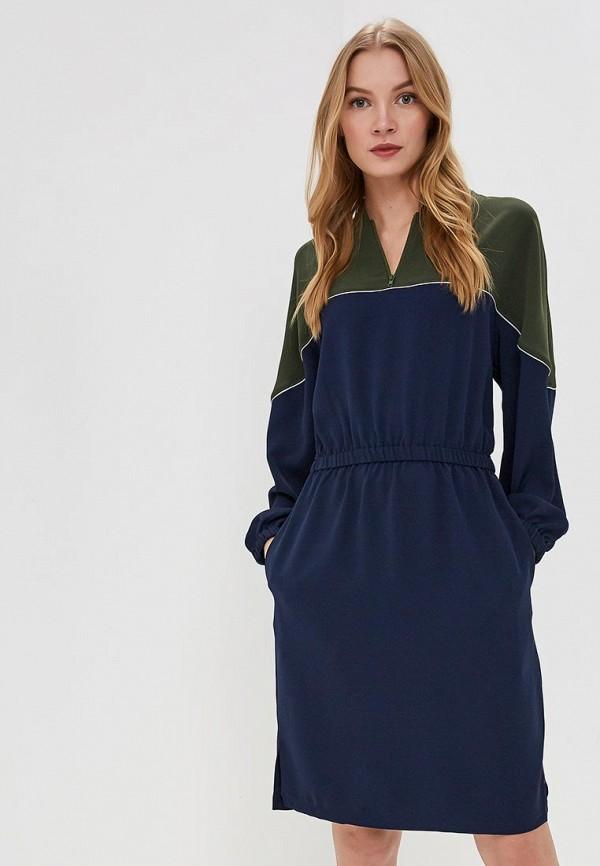 женское повседневные платье lacoste, синее