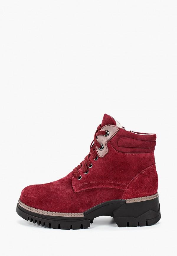 женские ботинки la grandezza, бордовые
