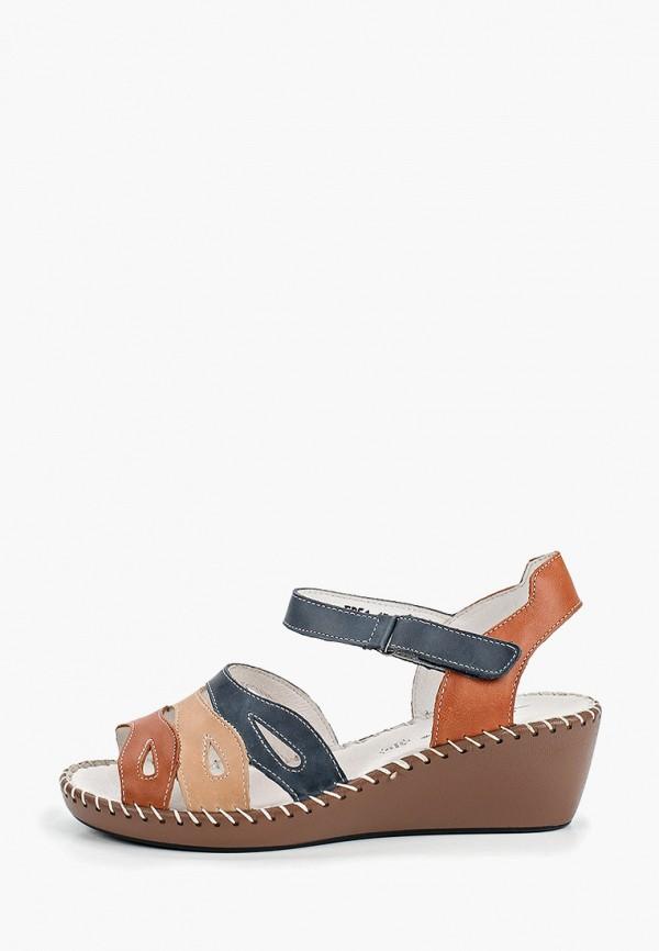 женские сандалии la grandezza, коричневые