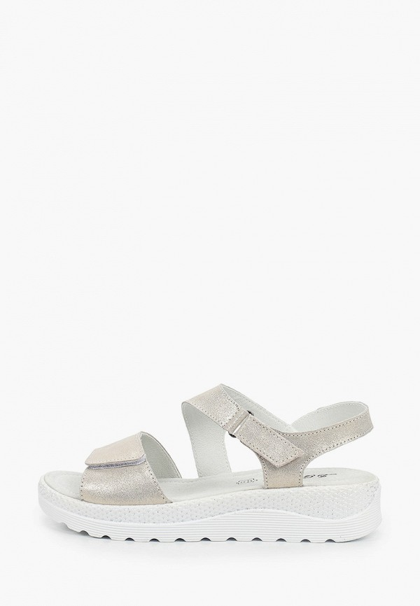 женские сандалии la grandezza, серебряные