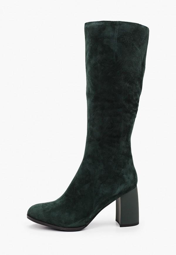 женские сапоги la grandezza, зеленые