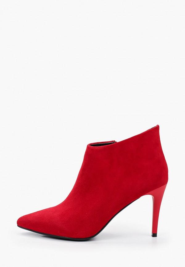 женские ботильоны la grandezza, красные