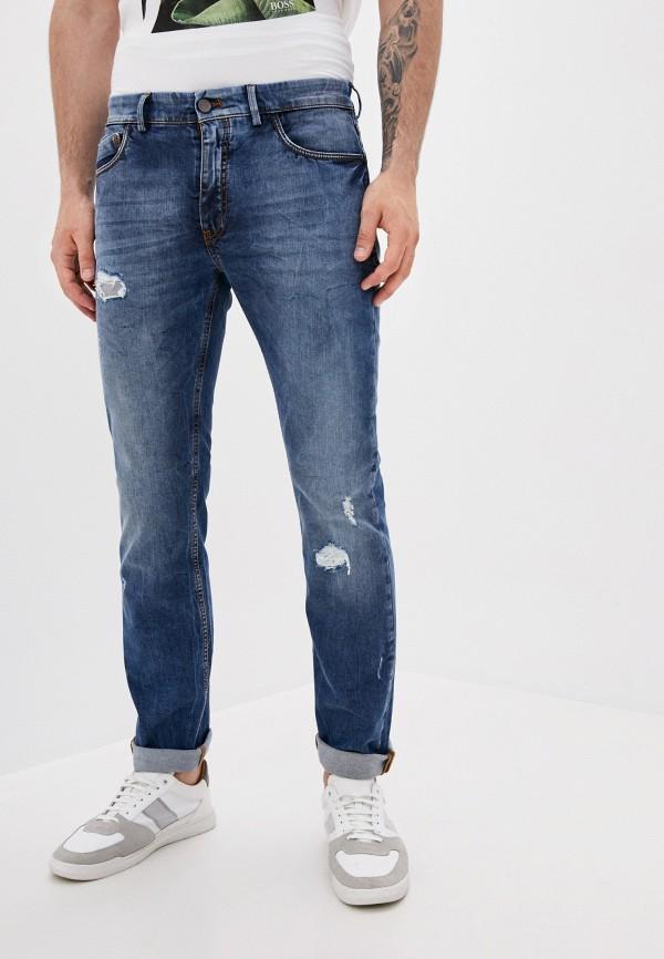 мужские прямые джинсы lab. pal zileri, синие