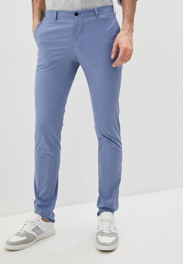 мужские повседневные брюки lab. pal zileri, голубые