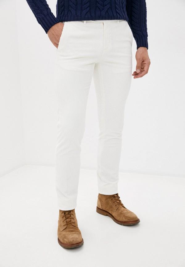 мужские повседневные брюки lab. pal zileri, белые