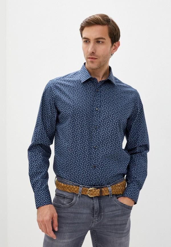 мужская рубашка с длинным рукавом lab. pal zileri, синяя