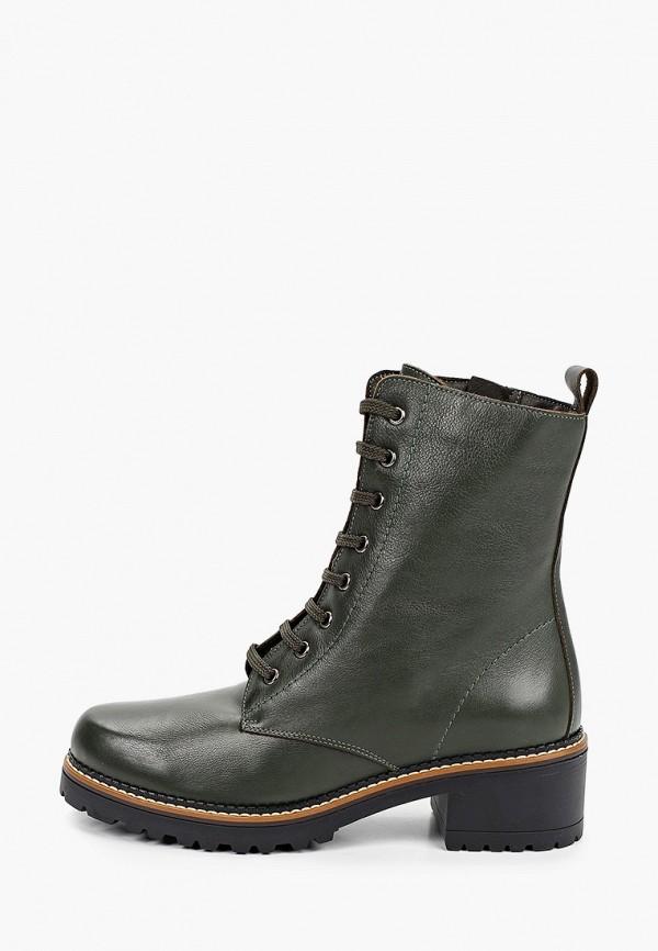 женские ботинки la coleccion, зеленые