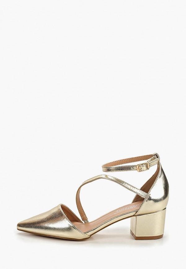 женские туфли la bottine souriante, золотые