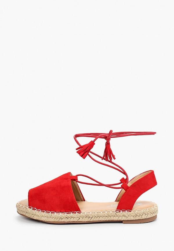 женские сандалии la bottine souriante, красные