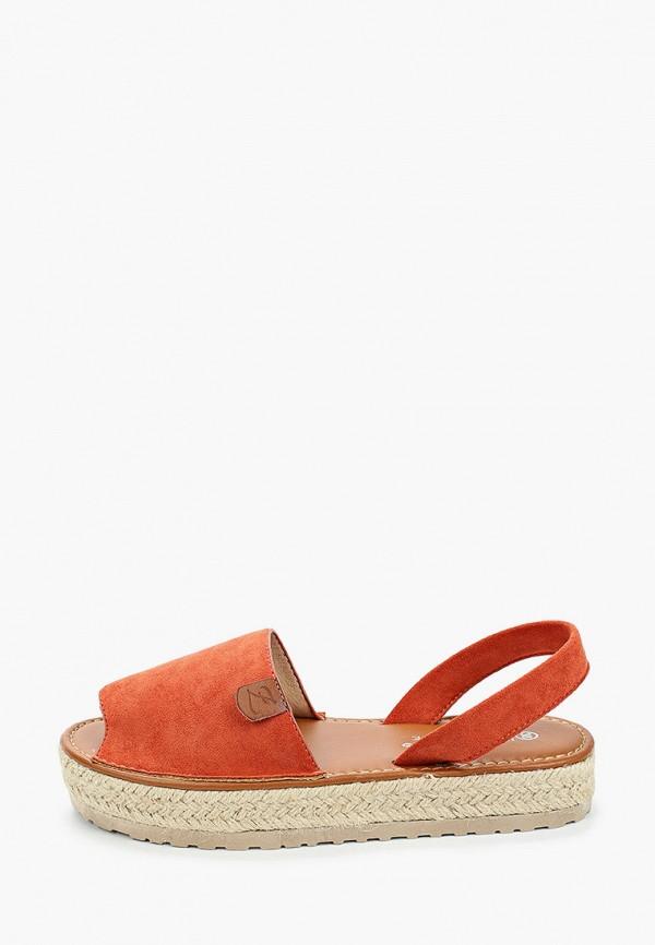 женские сандалии la bottine souriante, оранжевые
