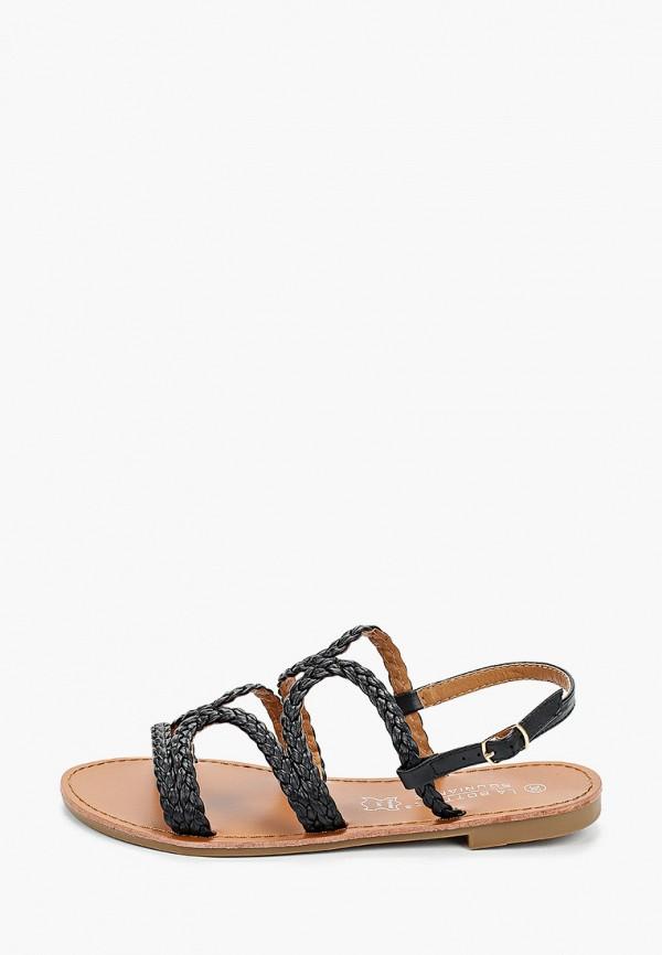 женские сандалии la bottine souriante, черные