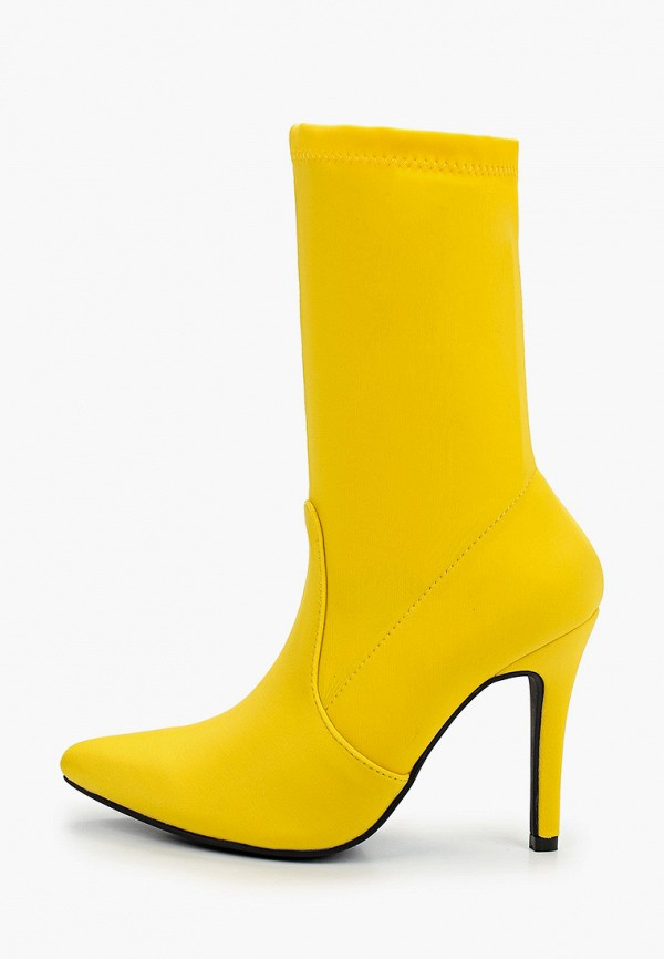 женские полусапожки la bottine souriante, желтые