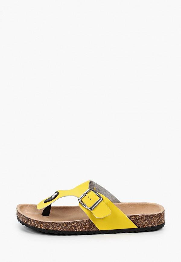женское сабо la bottine souriante, желтое