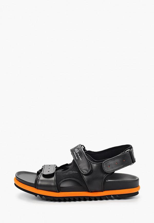 мужские сандалии lab-milano, черные