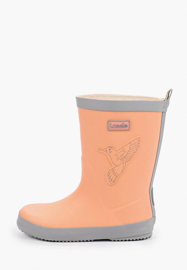 резиновые сапоги lassie by reima для девочки, оранжевые