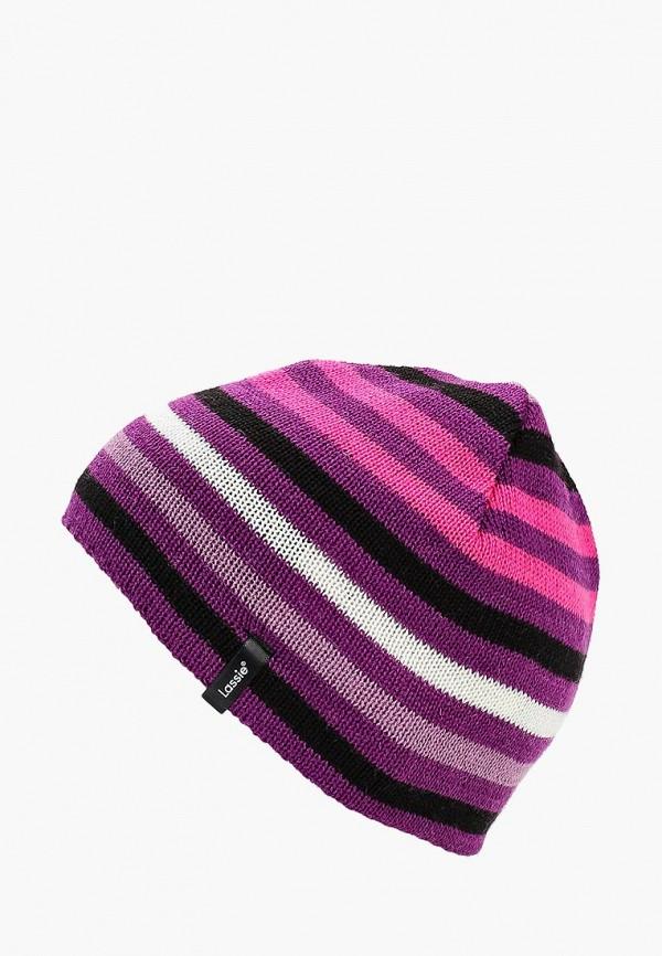 Купить Шапка Lassie, LA078CGCACT0, фиолетовый, Осень-зима 2018/2019