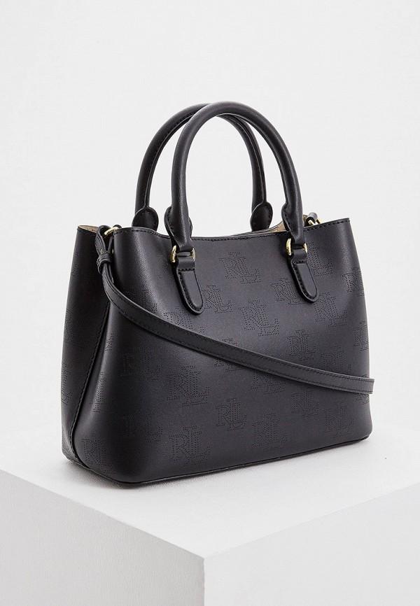Фото 2 - женскую сумку Lauren Ralph Lauren черного цвета