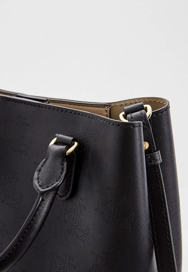 Фото 3 - женскую сумку Lauren Ralph Lauren черного цвета