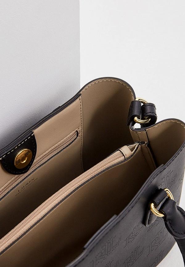 Фото 4 - женскую сумку Lauren Ralph Lauren черного цвета