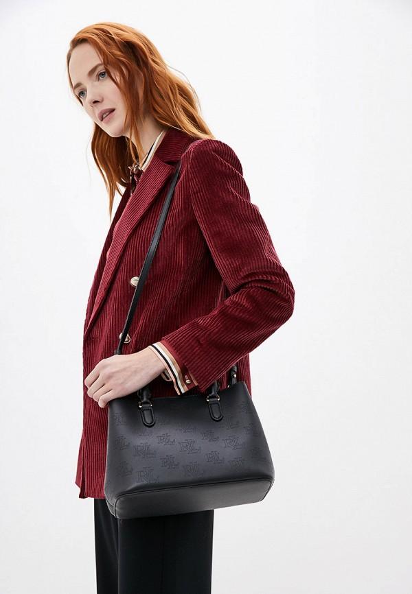 Фото 5 - женскую сумку Lauren Ralph Lauren черного цвета