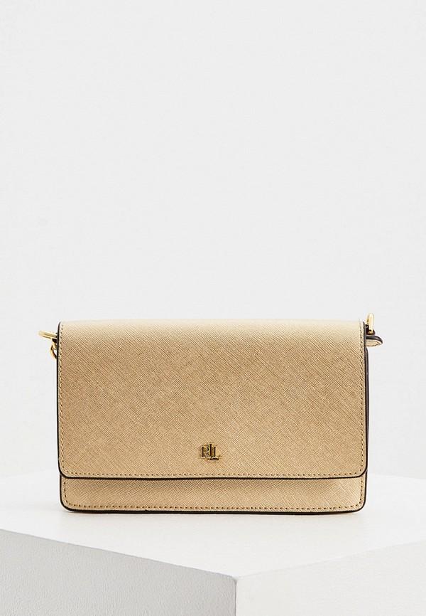 женская сумка lauren ralph lauren, золотая