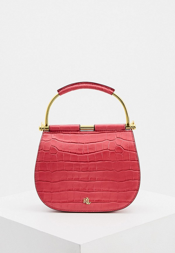 женская сумка lauren ralph lauren, розовая