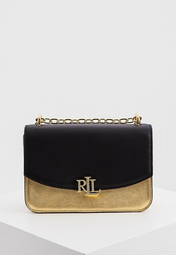 женская сумка через плечо lauren ralph lauren, золотая