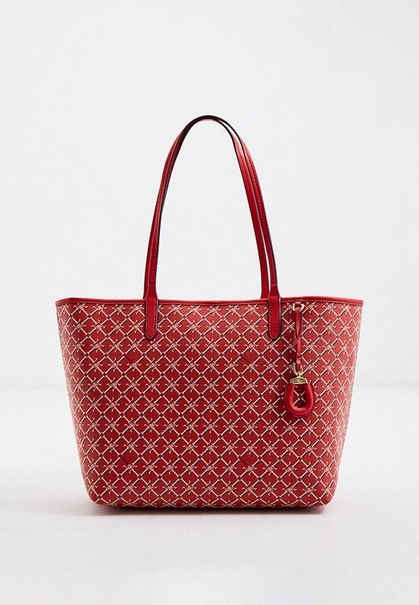 женская сумка-шоперы lauren ralph lauren, красная