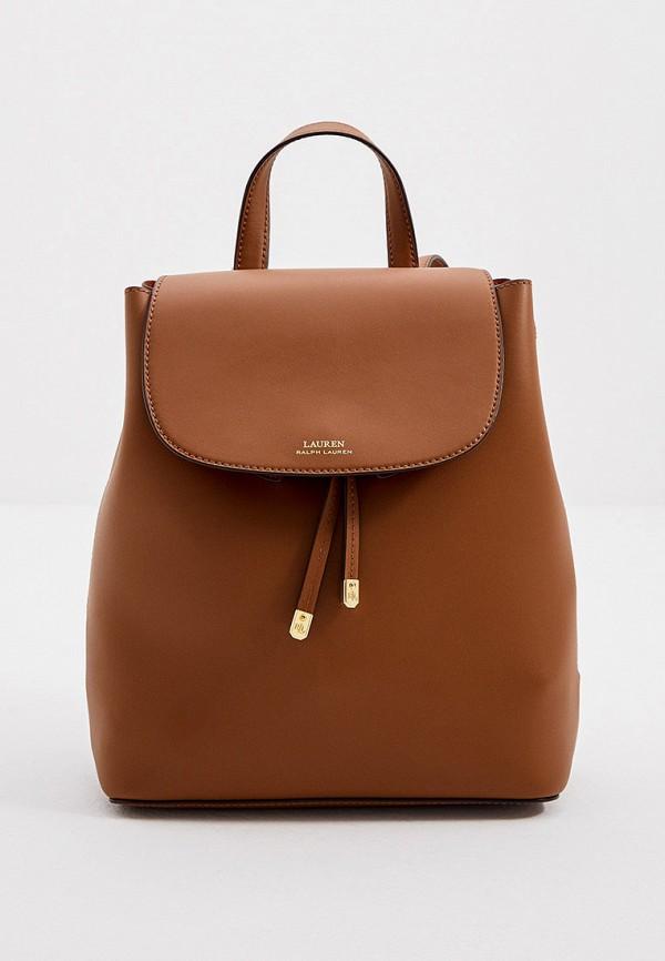 женский рюкзак lauren ralph lauren, коричневый