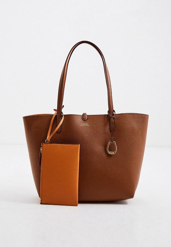 женский кошелёк-шоперы lauren ralph lauren, коричневый