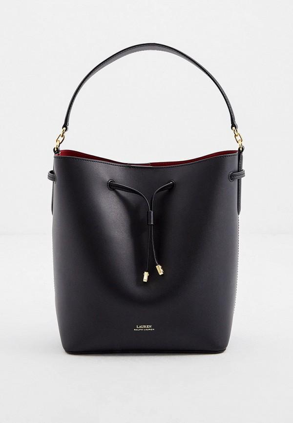 женская сумка-ведро lauren ralph lauren, черная