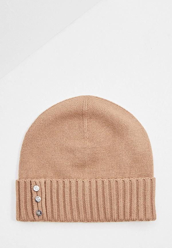 женская шапка lauren ralph lauren, коричневая