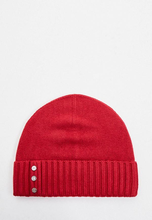 женская шапка lauren ralph lauren, красная
