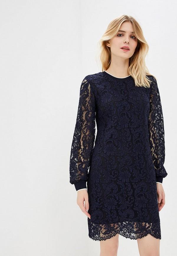 Купить Платье Lauren Ralph Lauren, la079ewbpuv9, синий, Осень-зима 2018/2019