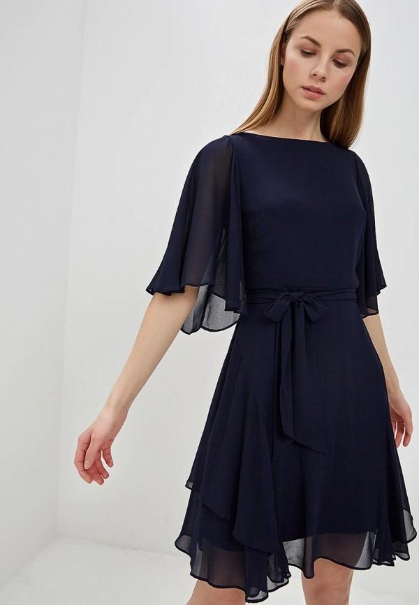 Купить Платье Lauren Ralph Lauren, la079ewefpf5, синий, Весна-лето 2019