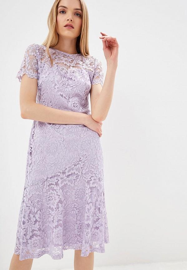 женское вечерние платье lauren ralph lauren, фиолетовое