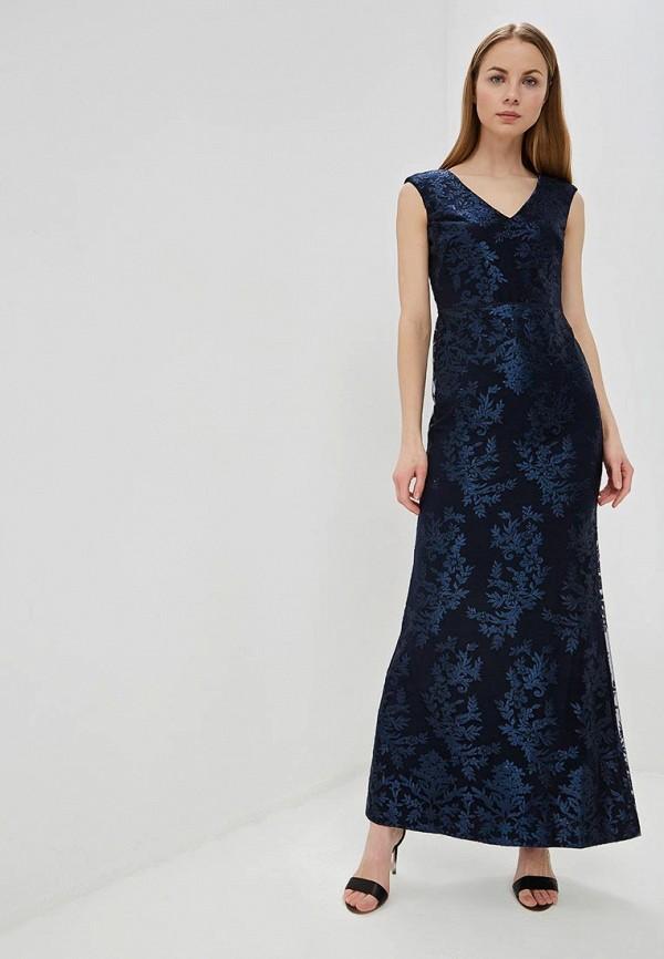 женское вечерние платье lauren ralph lauren, синее