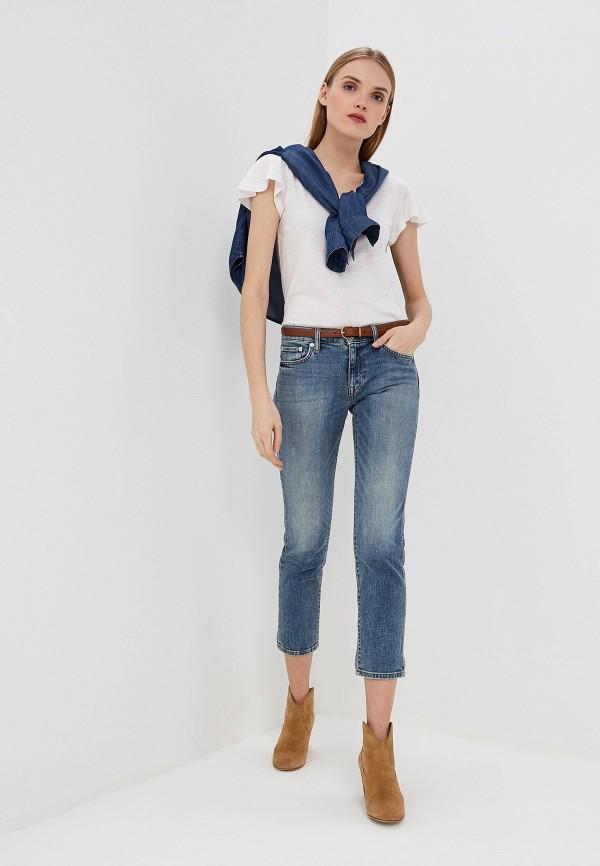 Фото 2 - женскую футболку Lauren Ralph Lauren белого цвета