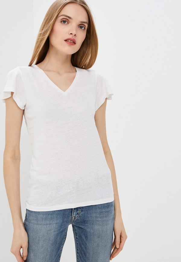 Фото 4 - женскую футболку Lauren Ralph Lauren белого цвета