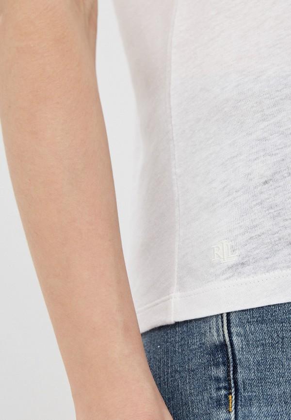 Фото 6 - женскую футболку Lauren Ralph Lauren белого цвета